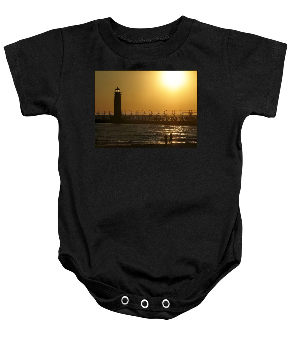 Beach Baby Onesie featuring the photograph Just You And Me by Jeff Burton