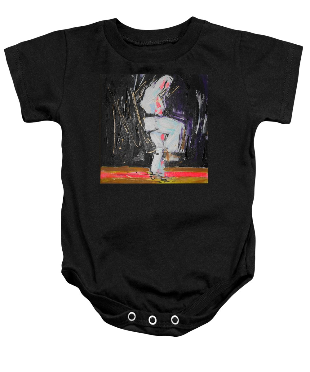Kata Baby Onesie featuring the painting Kata by Lucia Hoogervorst