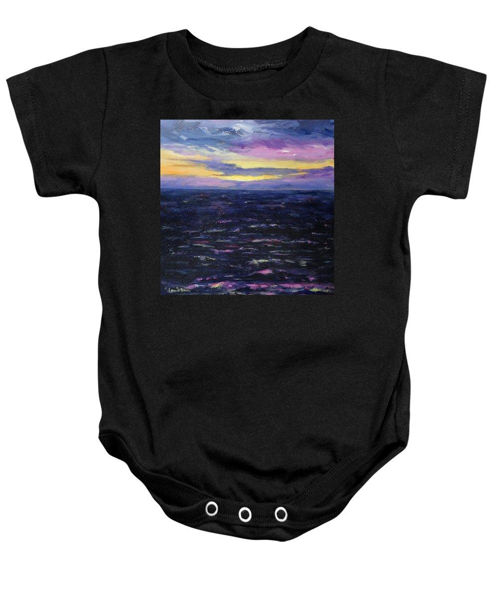Kauai Baby Onesie featuring the painting Kauai Sunset by Jamie Frier