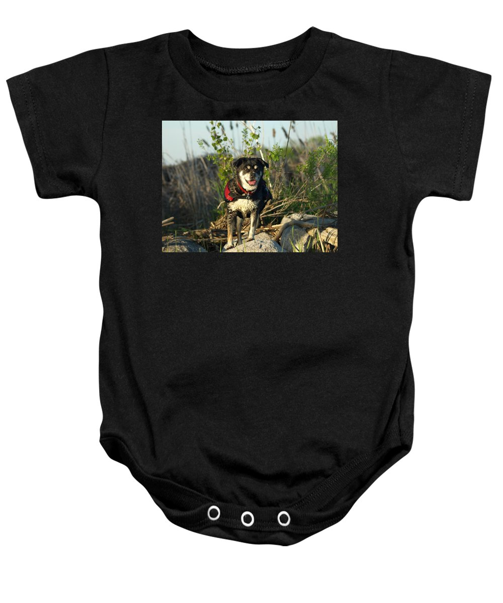 Peterson Nature Photography Baby Onesie featuring the photograph Kayaker's Best Friend by James Peterson