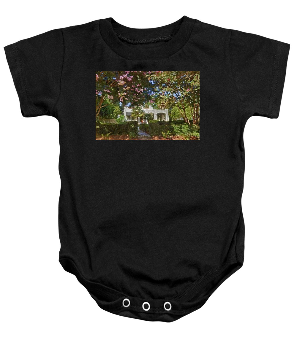 Home Portraits Baby Onesie featuring the digital art Keehan by Michael Thomas
