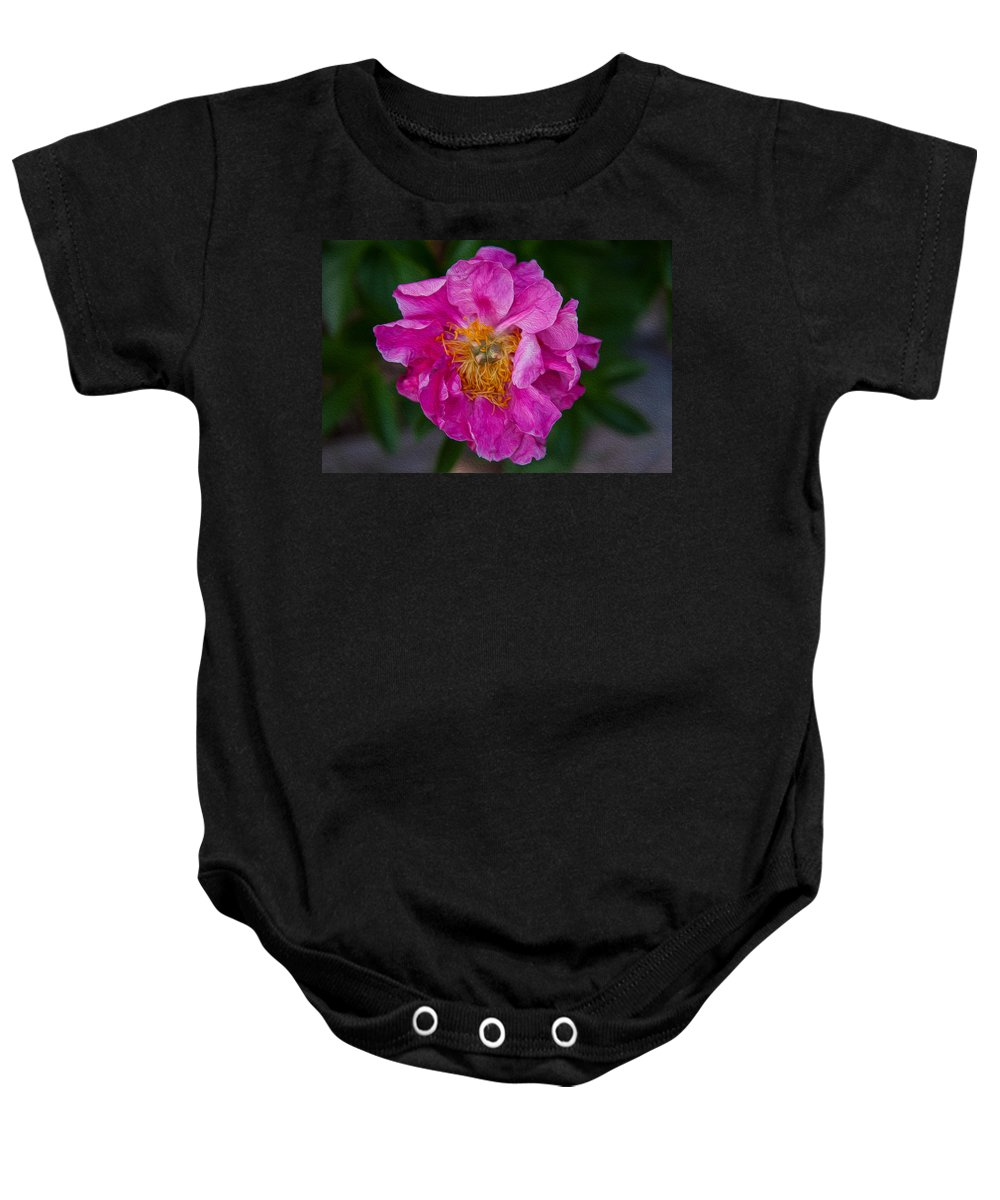 North Cascades Baby Onesie featuring the painting Keeper Of The Light by Omaste Witkowski
