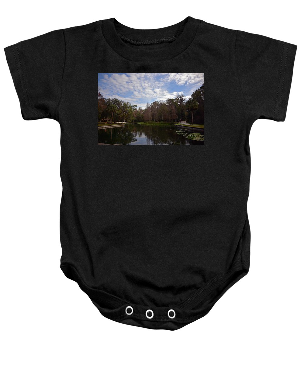Landscapes Baby Onesie featuring the photograph Kelly Park Springs by Deborah Good