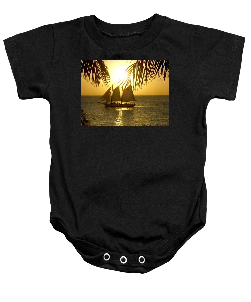 Key West Baby Onesie featuring the photograph Key West Sunset by Joan Minchak