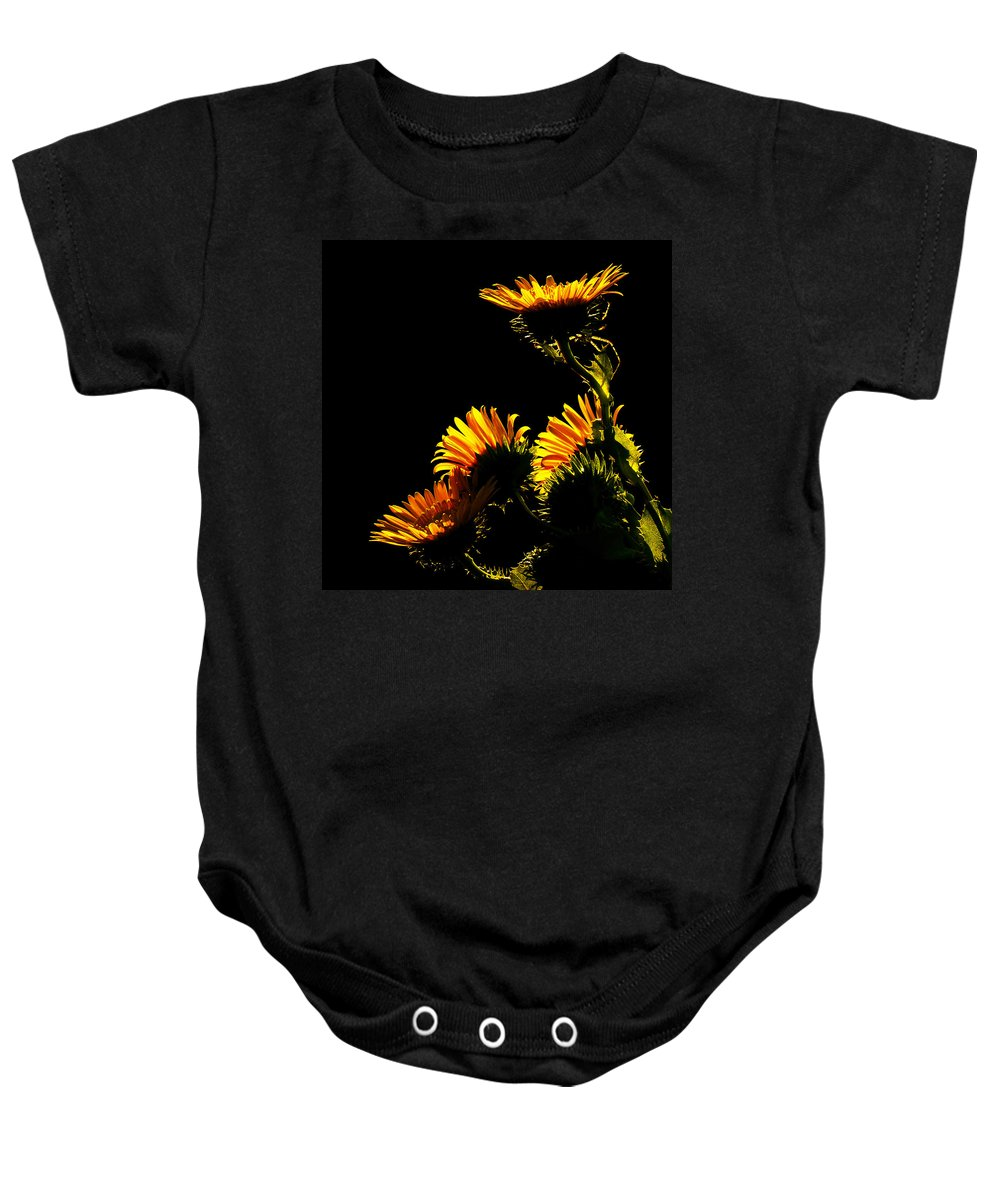 Sunflowers Baby Onesie featuring the photograph Kiss The Sun by Stuart Harrison