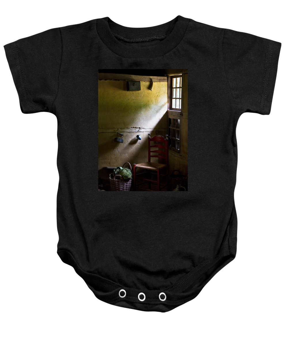 Dutch Kitchen Baby Onesie featuring the photograph Kitchen Corner by Dave Bowman