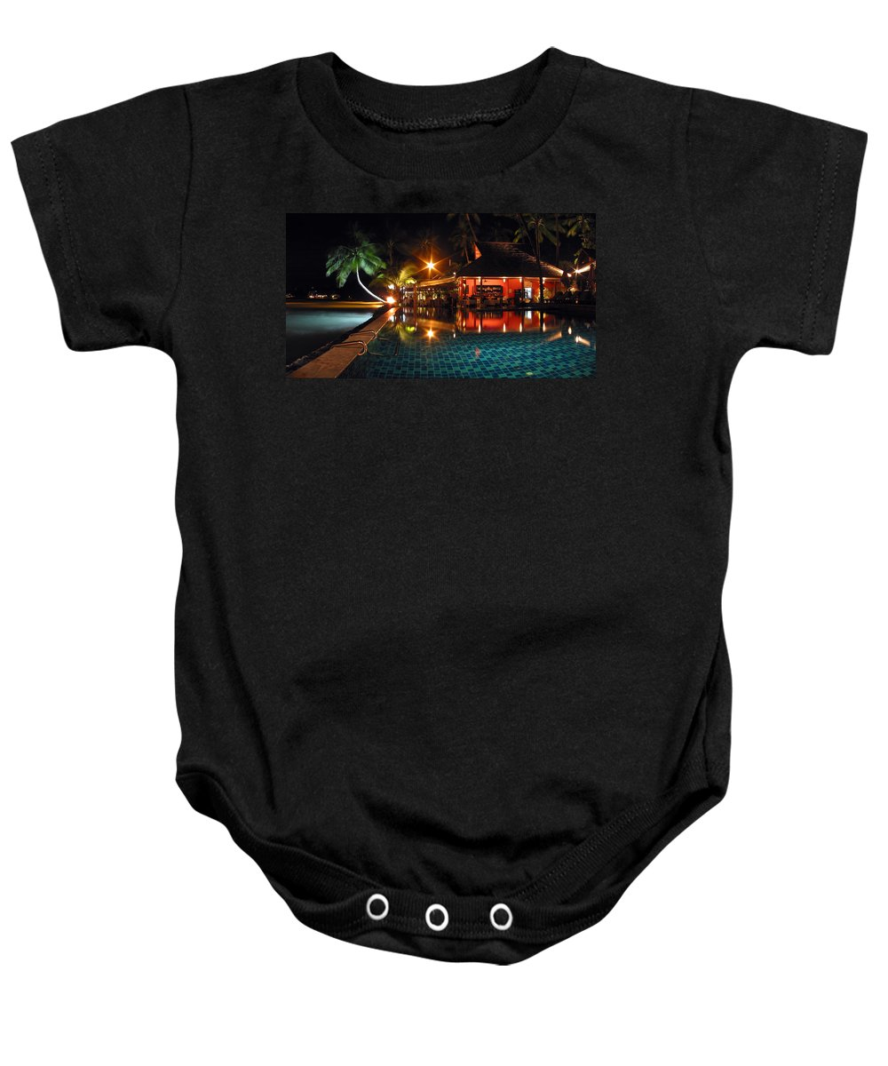 3scape Baby Onesie featuring the photograph Koh Samui Beach Resort by Adam Romanowicz