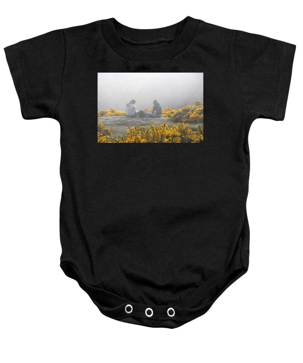 Ireland Baby Onesie featuring the photograph Dublin In The Mist by Aidan Moran