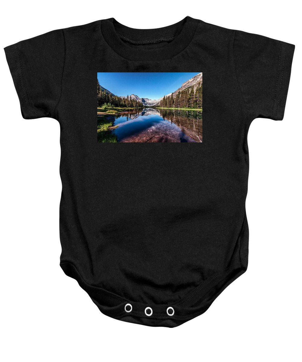 Gnp Baby Onesie featuring the photograph Lake Josephine by Aaron Aldrich
