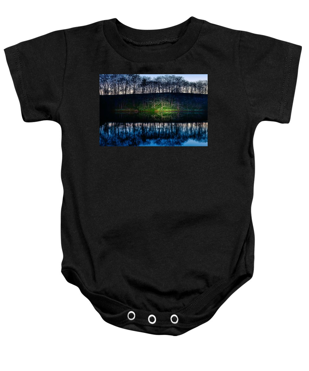 Lake Baby Onesie featuring the photograph Lake Shore by Alexey Stiop