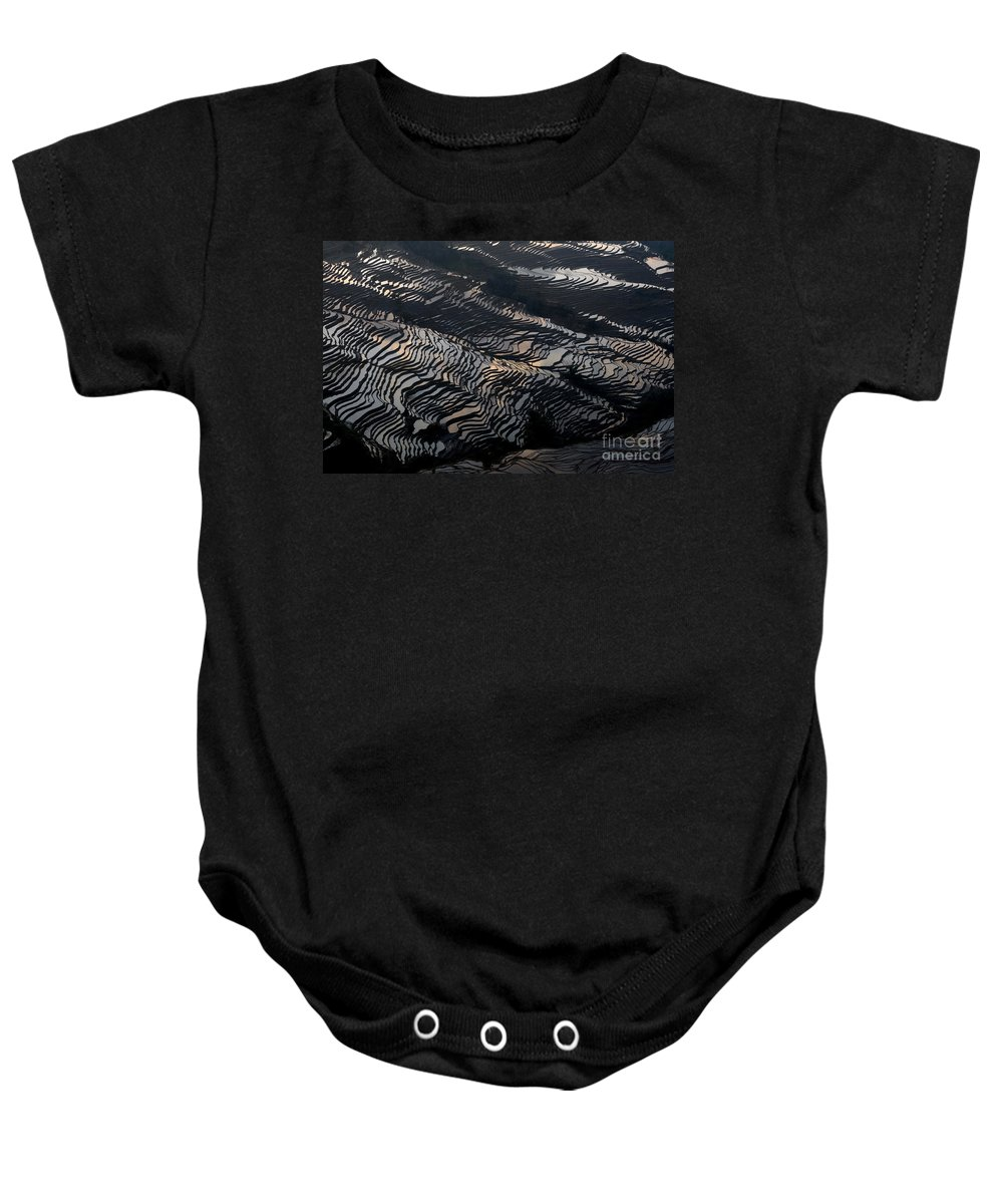 Agriculture Baby Onesie featuring the photograph Large Scale Of Rice Terrace by Kim Pin Tan