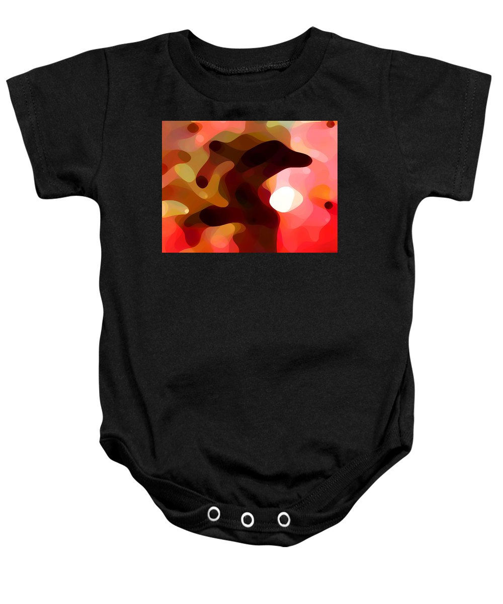 Bold Baby Onesie featuring the painting Las Tunas by Amy Vangsgard