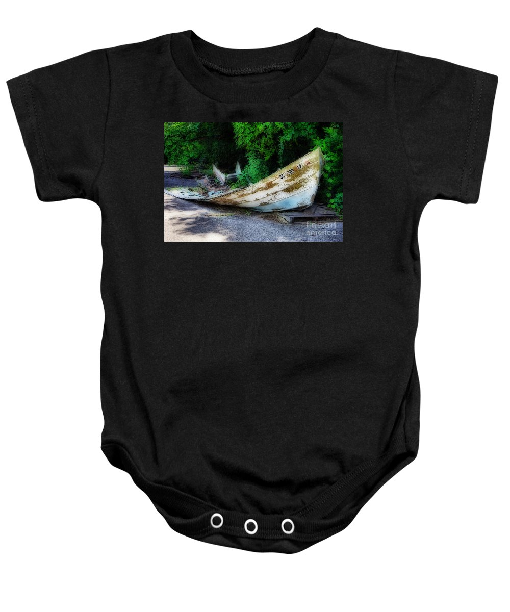 Maritime Baby Onesie featuring the photograph Last Voyage by Skip Willits