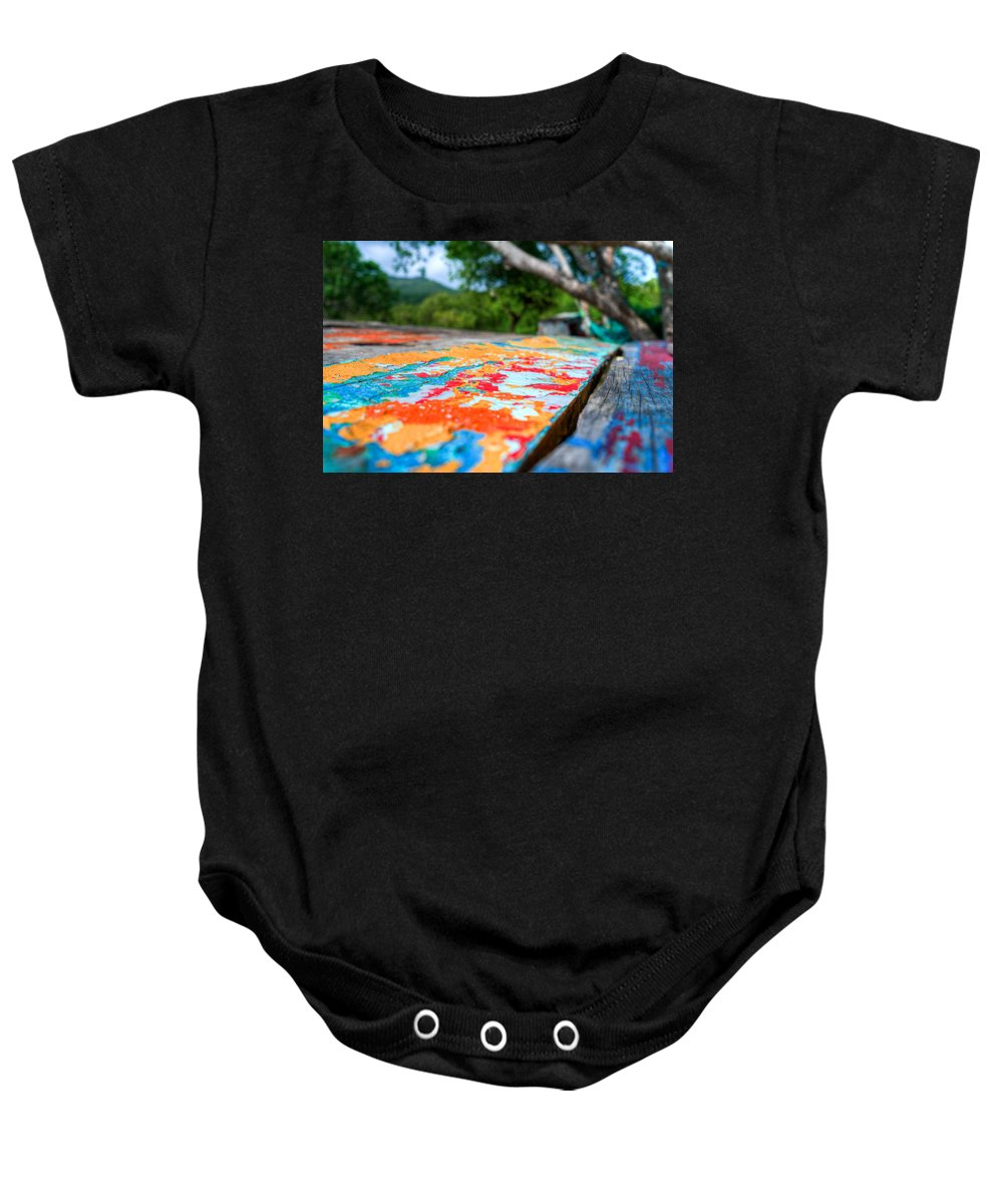Colors Baby Onesie featuring the photograph Layered by Ferry Zievinger