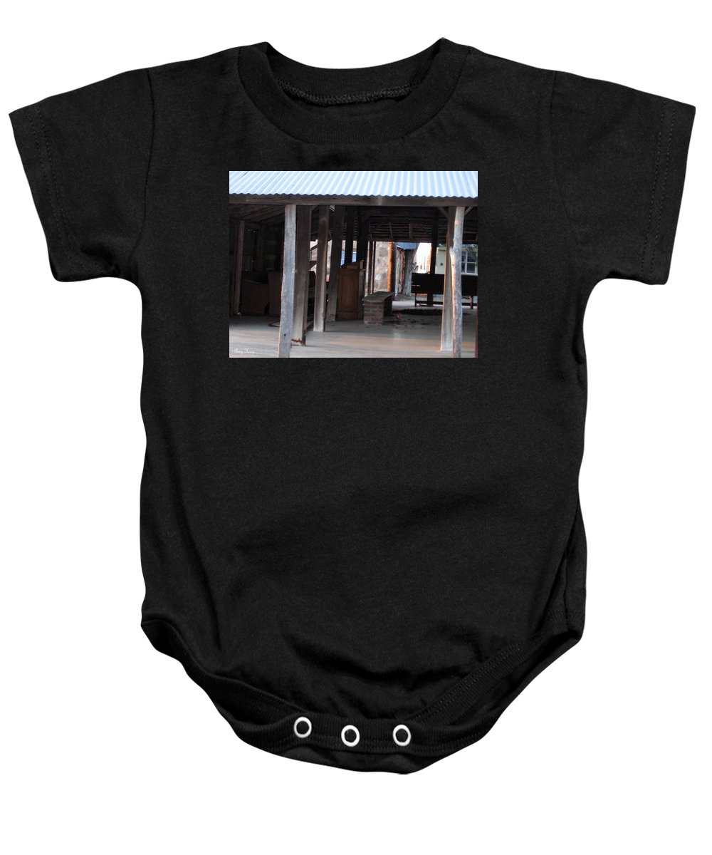 Illinois Bend Methodist Church Baby Onesie featuring the photograph Leftover Pulpit Illinois Bend Methodist Church by Amy Hosp