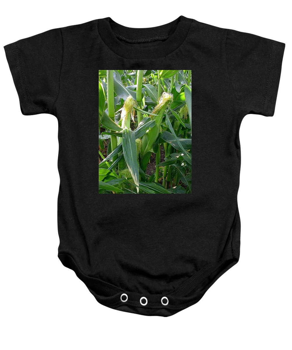 Corn Image Baby Onesie featuring the photograph Lend Your Ear by Cynthia Wallentine