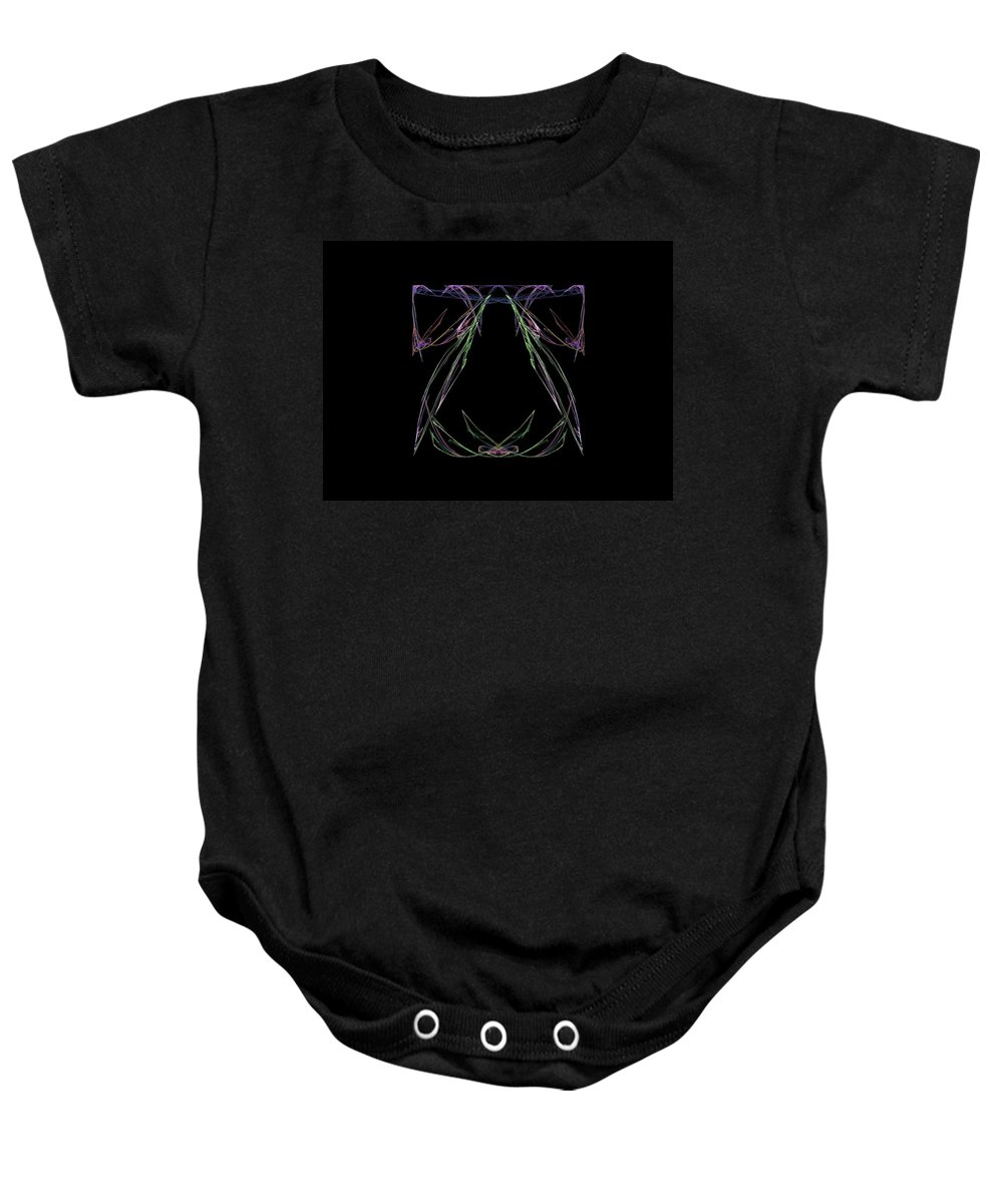Fractal Baby Onesie featuring the painting Liberty Bell by Bruce Nutting