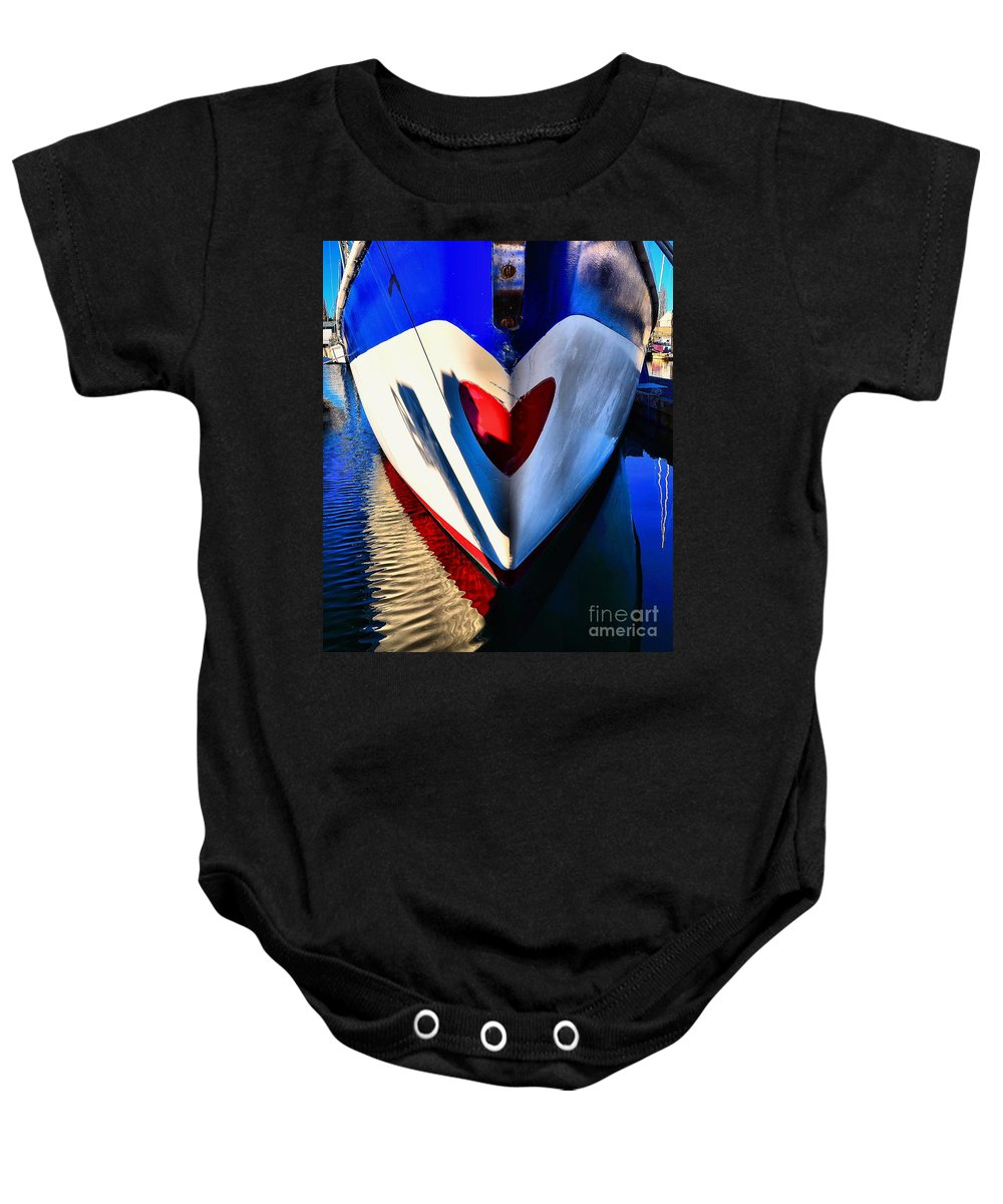 Abstract Baby Onesie featuring the photograph Life's Blood by Lauren Leigh Hunter Fine Art Photography