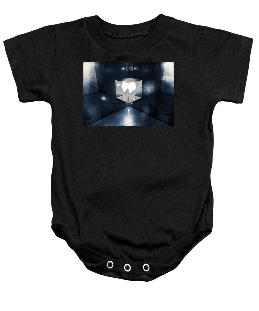 Lighting Baby Onesie featuring the digital art Lighting In Cube by Ramon Martinez