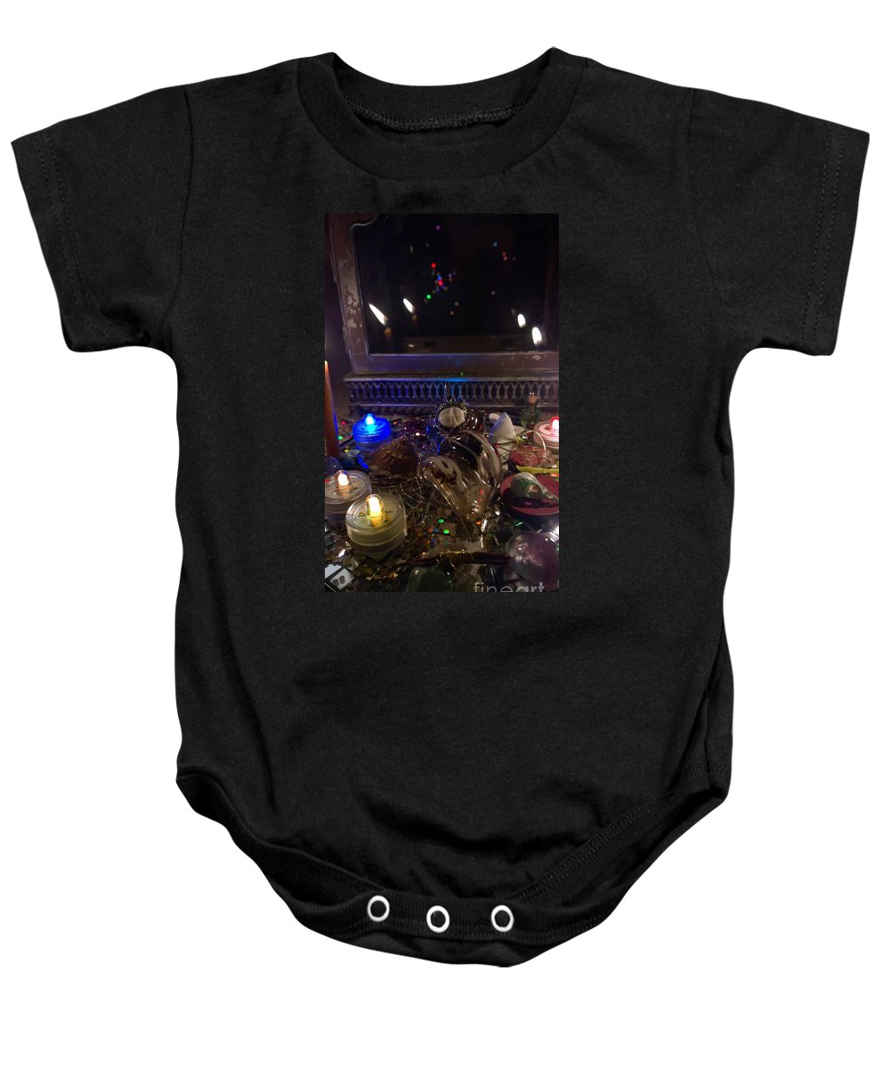 Magic Baby Onesie featuring the photograph A Wishing Place 1 by Judy Henninger