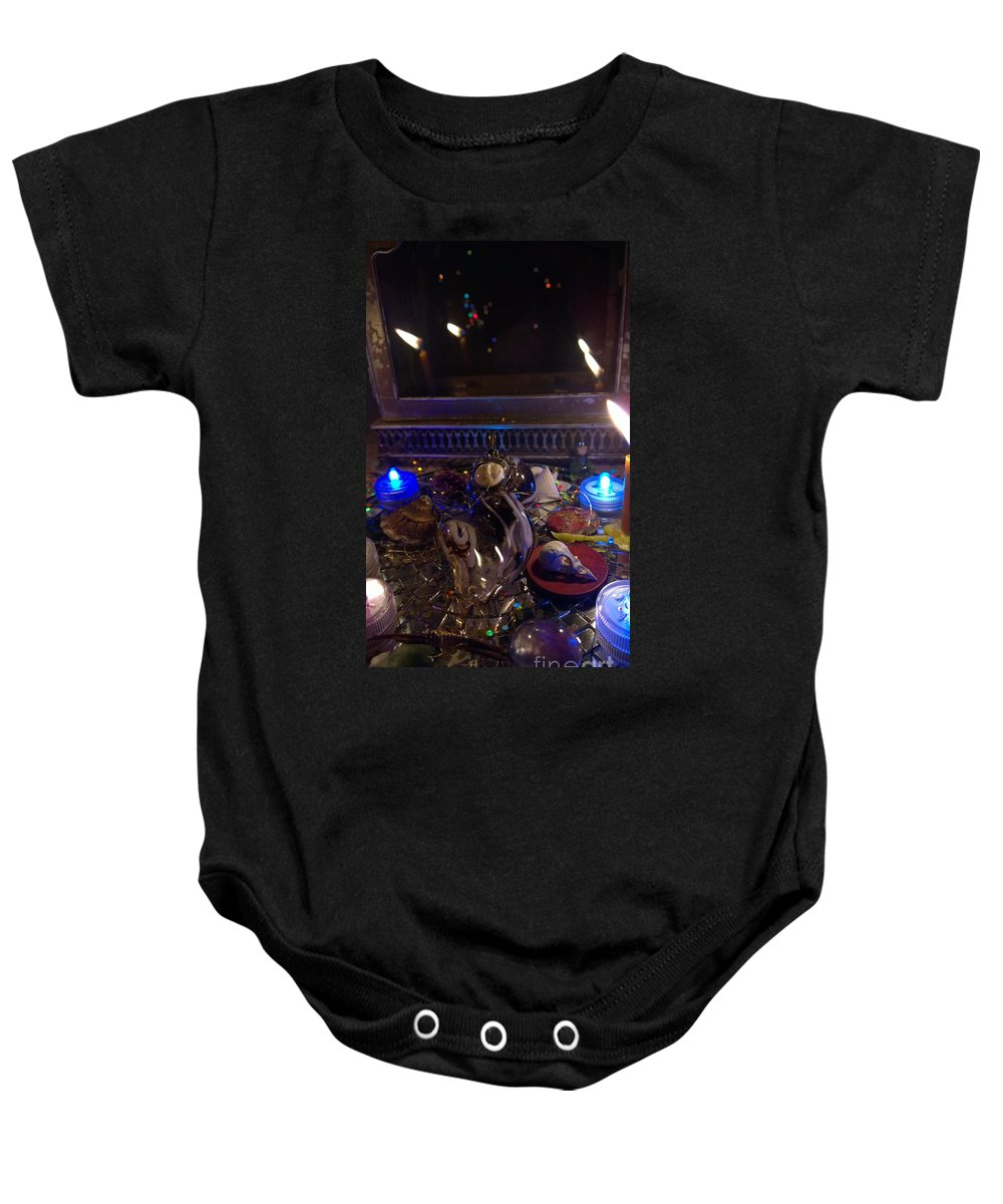 Magic Baby Onesie featuring the photograph A Wishing Place 3 by Judy Henninger