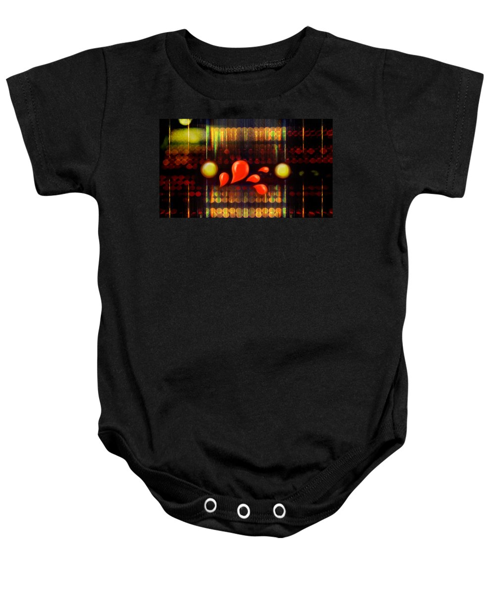Abstract Baby Onesie featuring the digital art Lights_bleed by Scott Smith