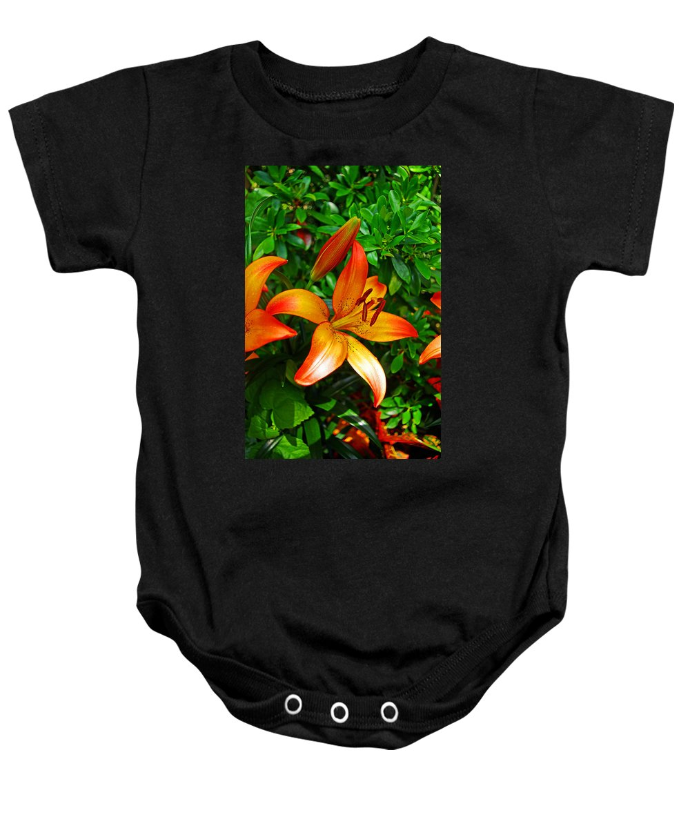 Lily Baby Onesie featuring the photograph Lily by Rich Walter