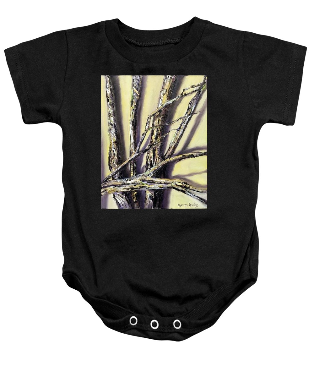 Limbs Baby Onesie featuring the painting Limbs Found After The Tornado by Randy Burns