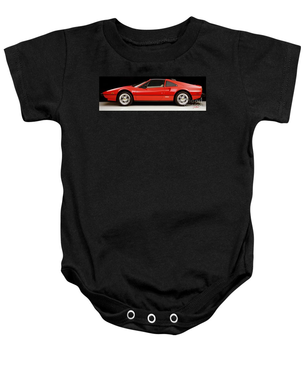 Ferrari 308 Gtsi Baby Onesie featuring the photograph Lines by Jon Neidert