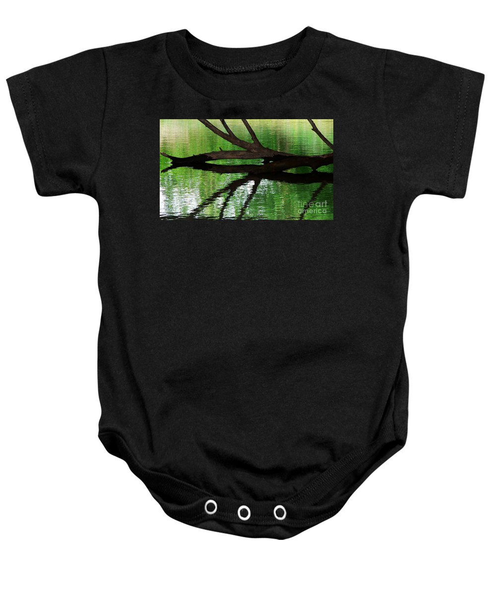 Water Baby Onesie featuring the photograph Liquid Reflection by Angela Wright