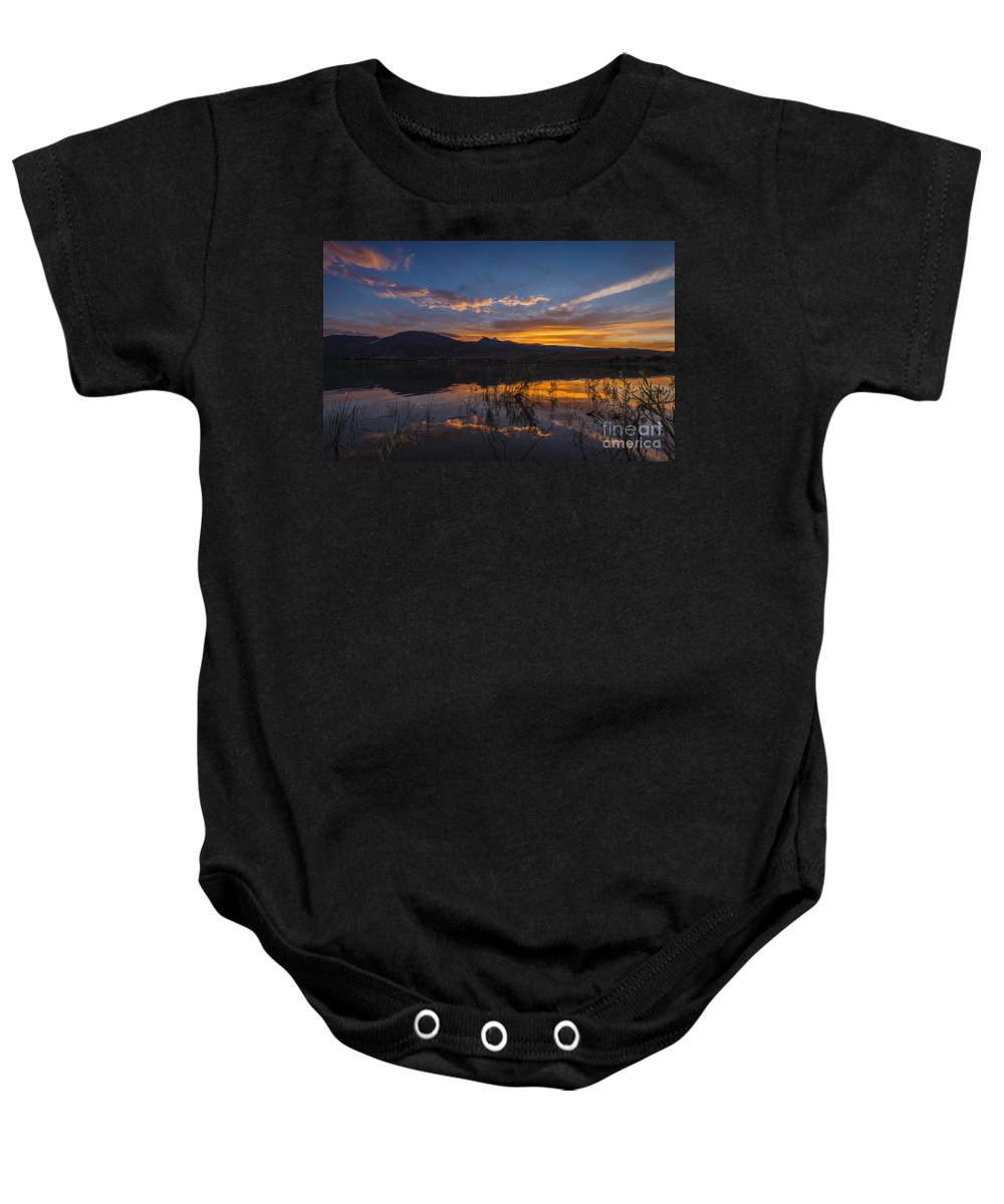 Sky Baby Onesie featuring the photograph Little Washoe Summer Reflections by Dianne Phelps