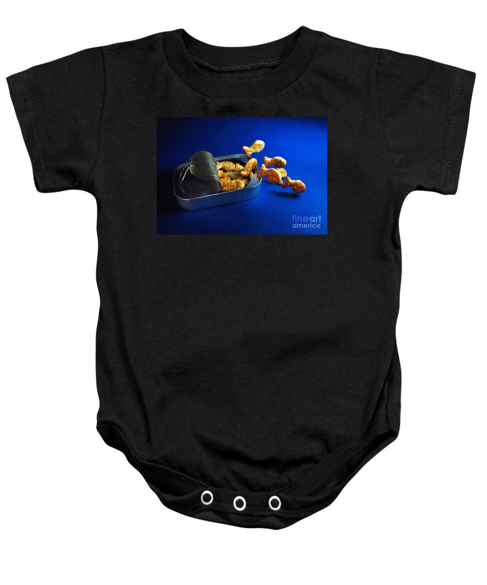 Fish Baby Onesie featuring the photograph Living In A Can by Hannes Cmarits