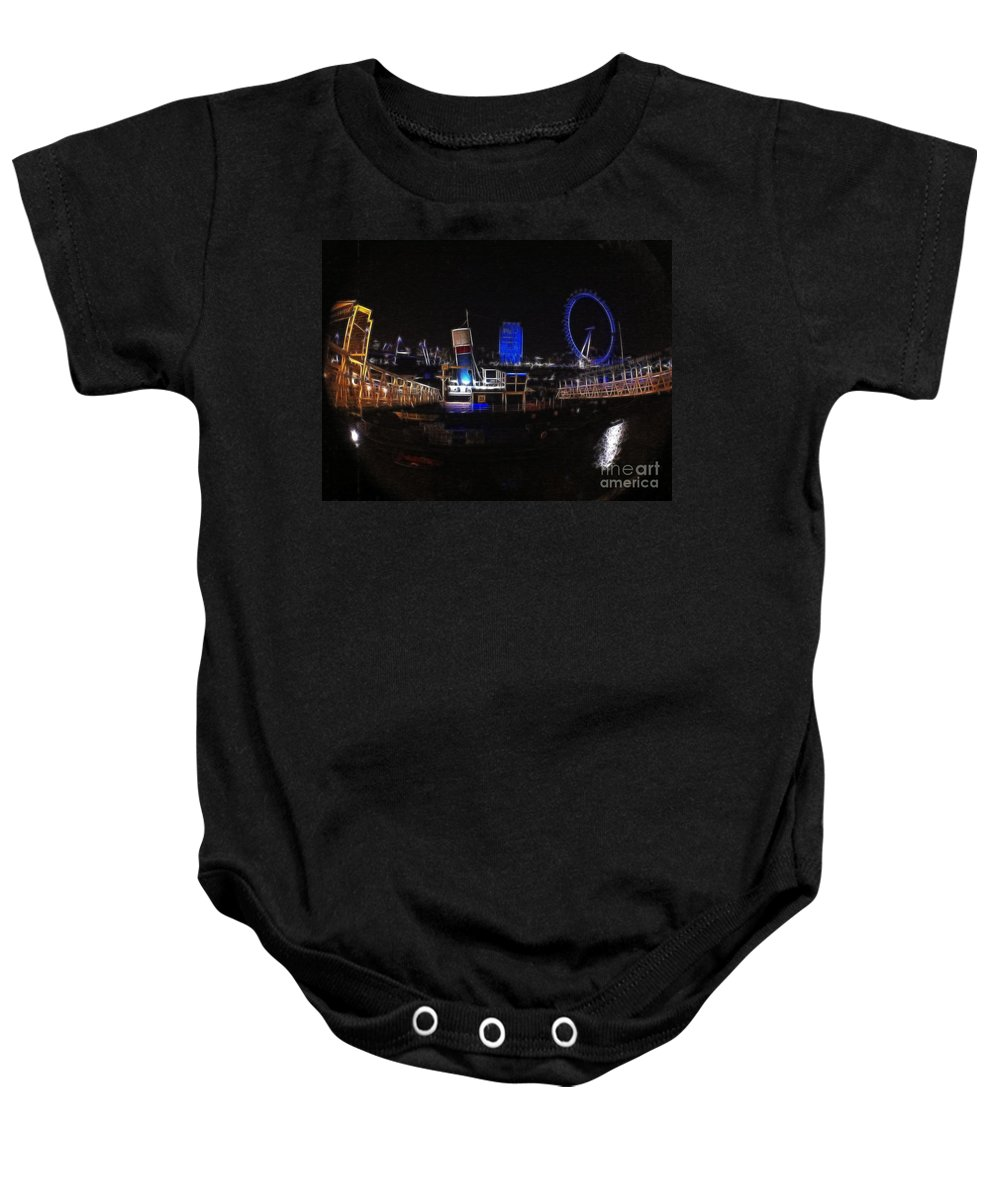 London Baby Onesie featuring the photograph Downtown London by Doc Braham