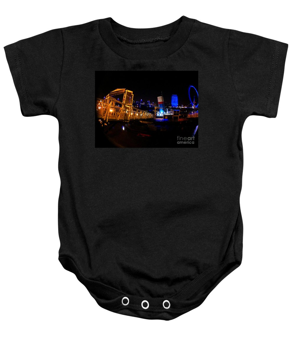Eye Baby Onesie featuring the photograph London At Night by Doc Braham