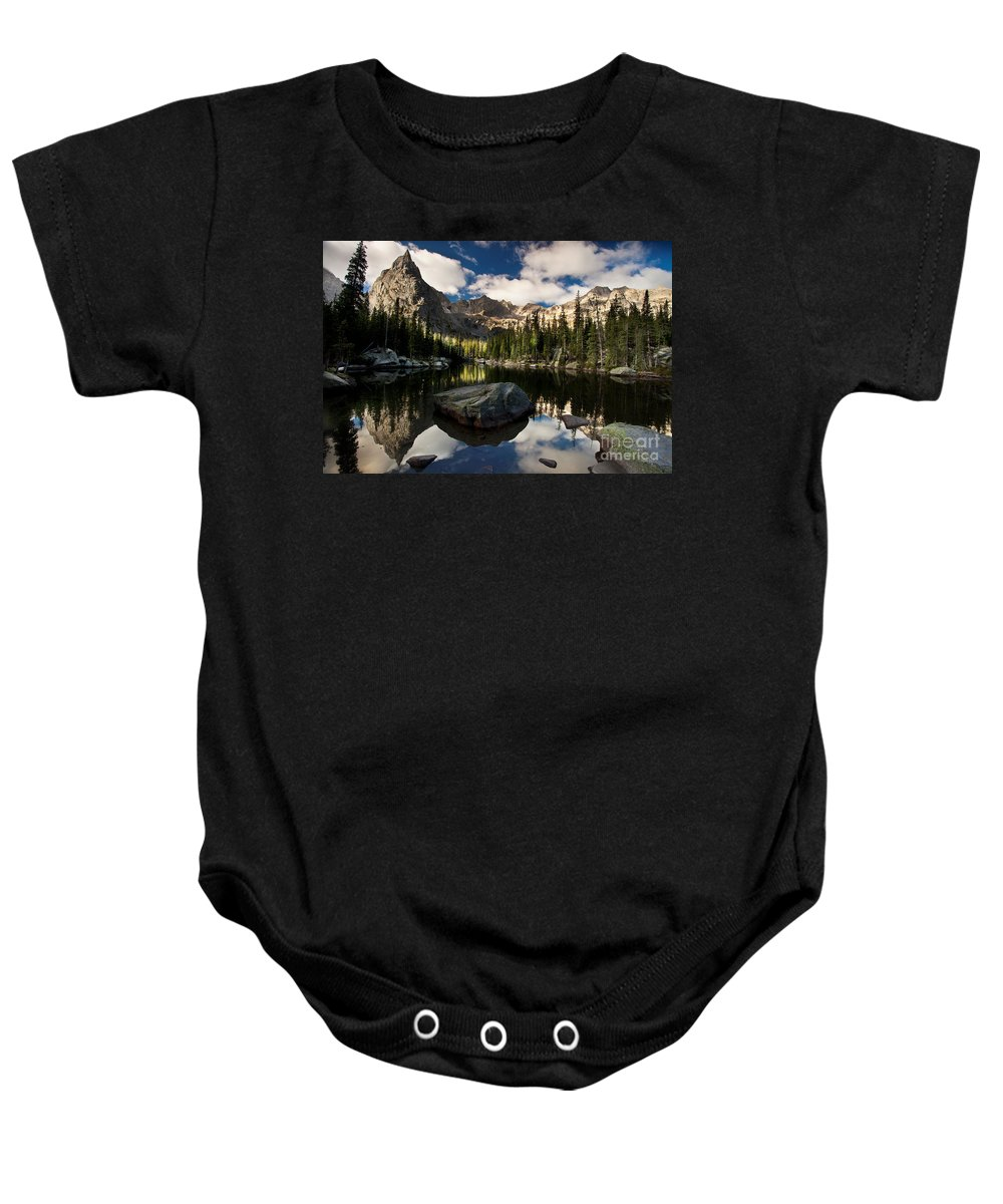 Landscape Baby Onesie featuring the photograph Lone Eagle by Steven Reed