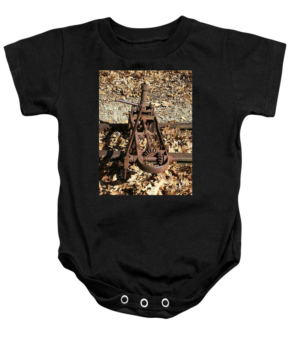 Railroad Baby Onesie featuring the photograph Long Forgotten by Sara Raber