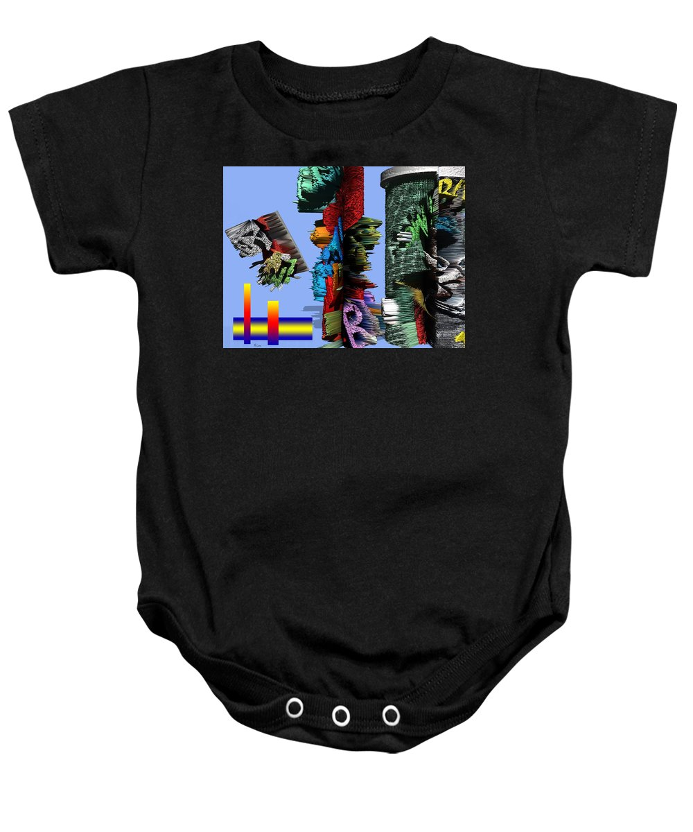 3d Baby Onesie featuring the painting Lost In Comic Book Time by Robert Margetts
