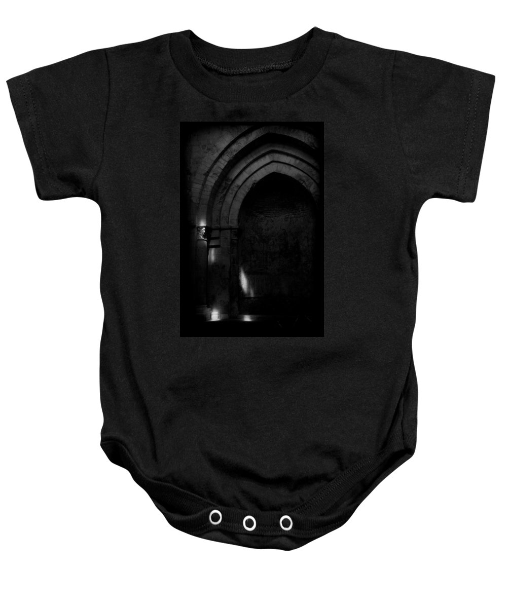 Gothic Baby Onesie featuring the photograph Lost Light by Michele Mule