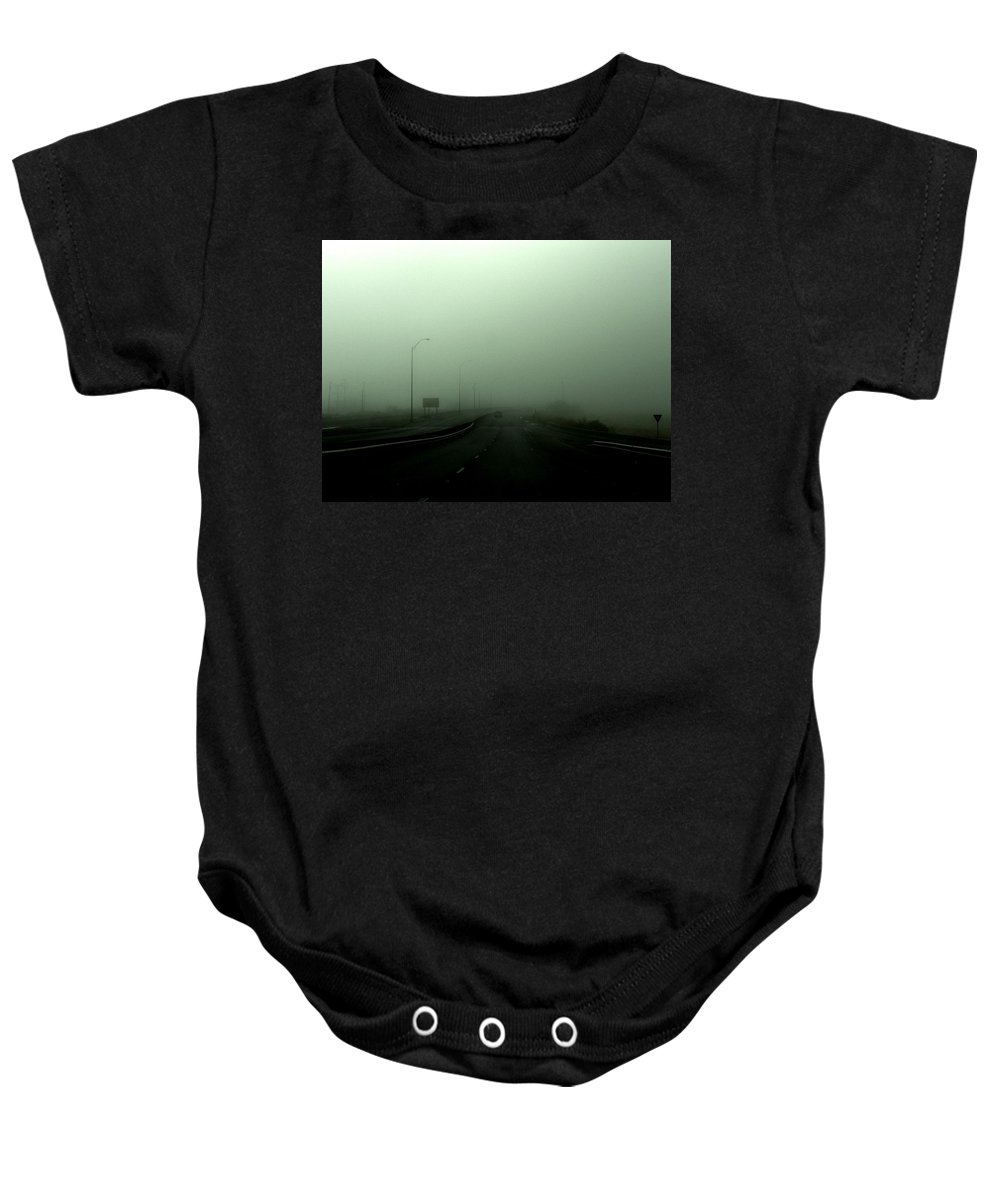 Smog Baby Onesie featuring the photograph Lost by M Pace