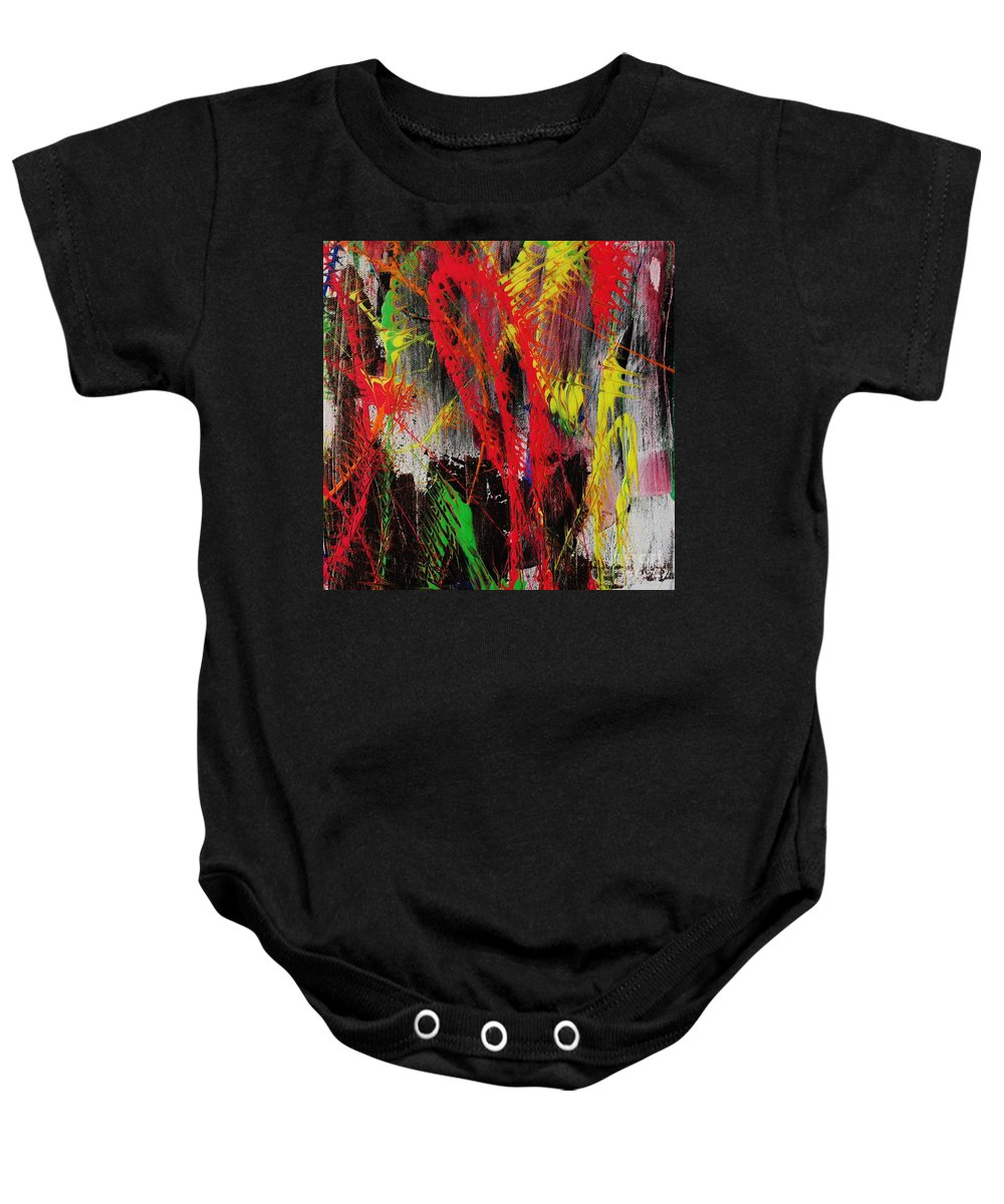 Abstract Baby Onesie featuring the painting Love Of Life #5 by Wayne Cantrell