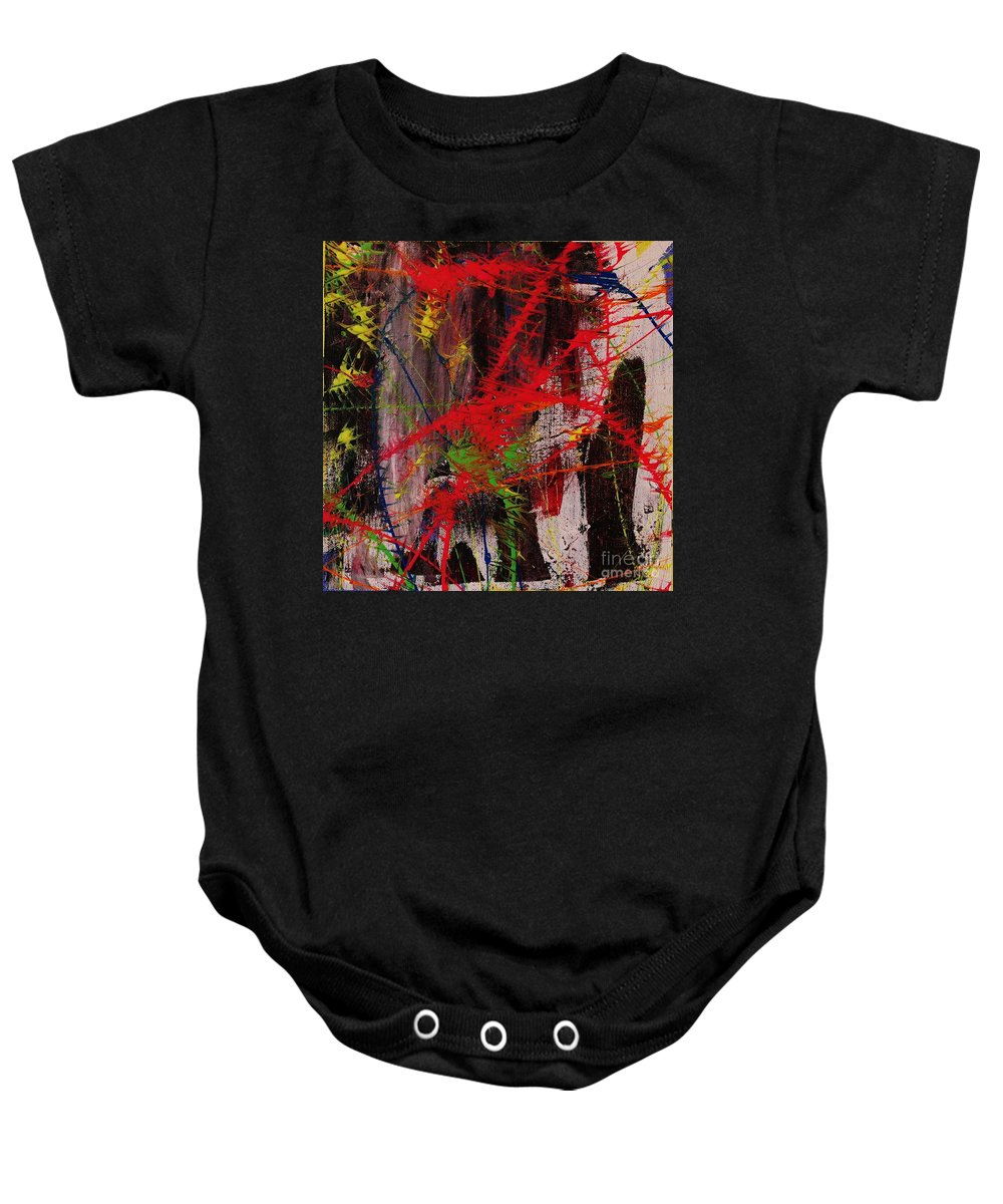 Abstract Baby Onesie featuring the painting Love Of Life #7 by Wayne Cantrell