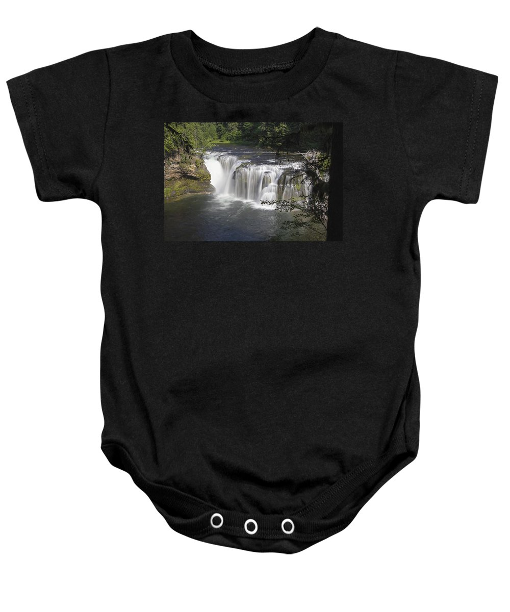 Lower Baby Onesie featuring the photograph Lower Lewis River Falls by Jit Lim