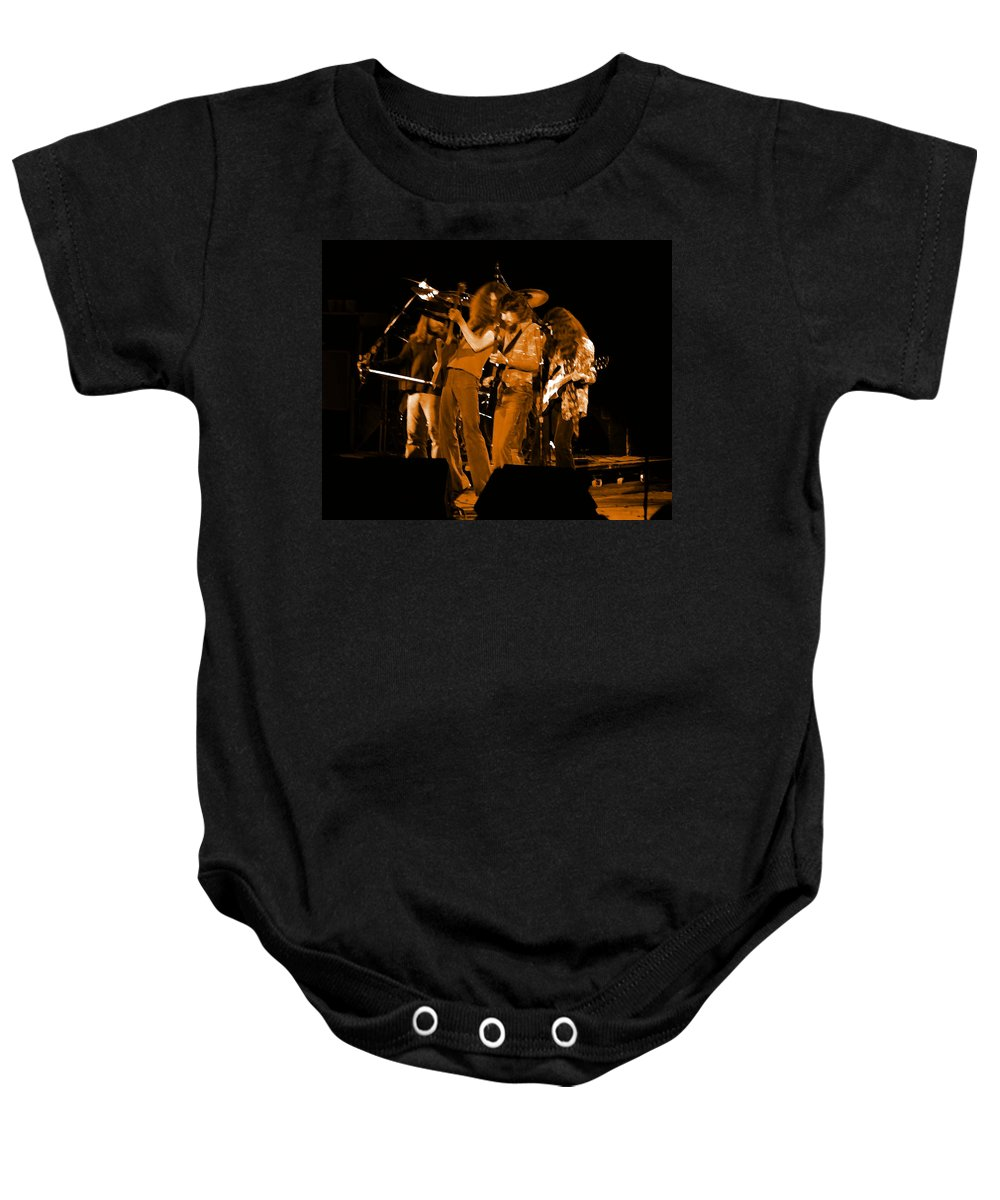 Lynyrd Skynyrd Baby Onesie featuring the photograph Ls Spo #68 Enhanced In Amber by Ben Upham