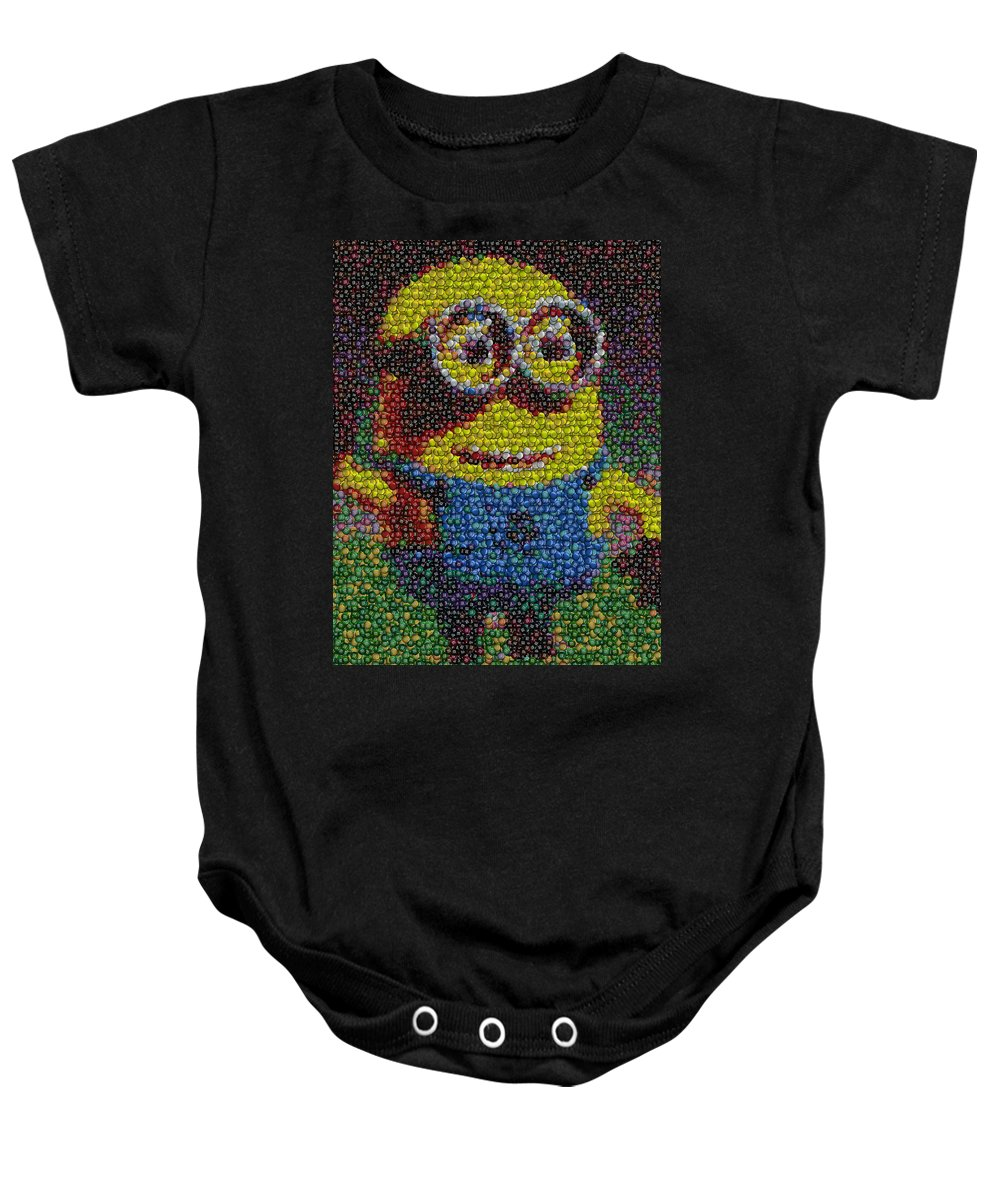 Minion Baby Onesie featuring the photograph M And M Minion  by Paul Van Scott