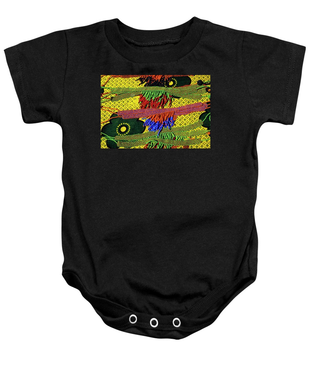 Africa Baby Onesie featuring the photograph Maasai Beadwork by Michele Burgess