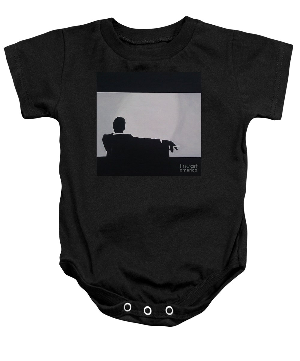 Artist Baby Onesie featuring the painting Mad Men In Silhouette by John Lyes