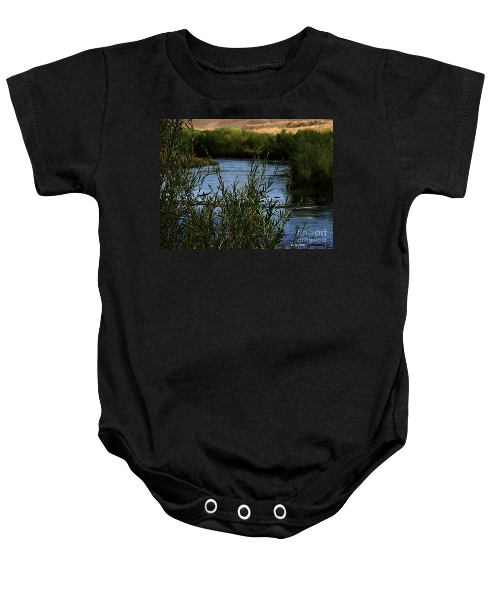 Madison River Baby Onesie featuring the photograph Madison River by Greg Patzer