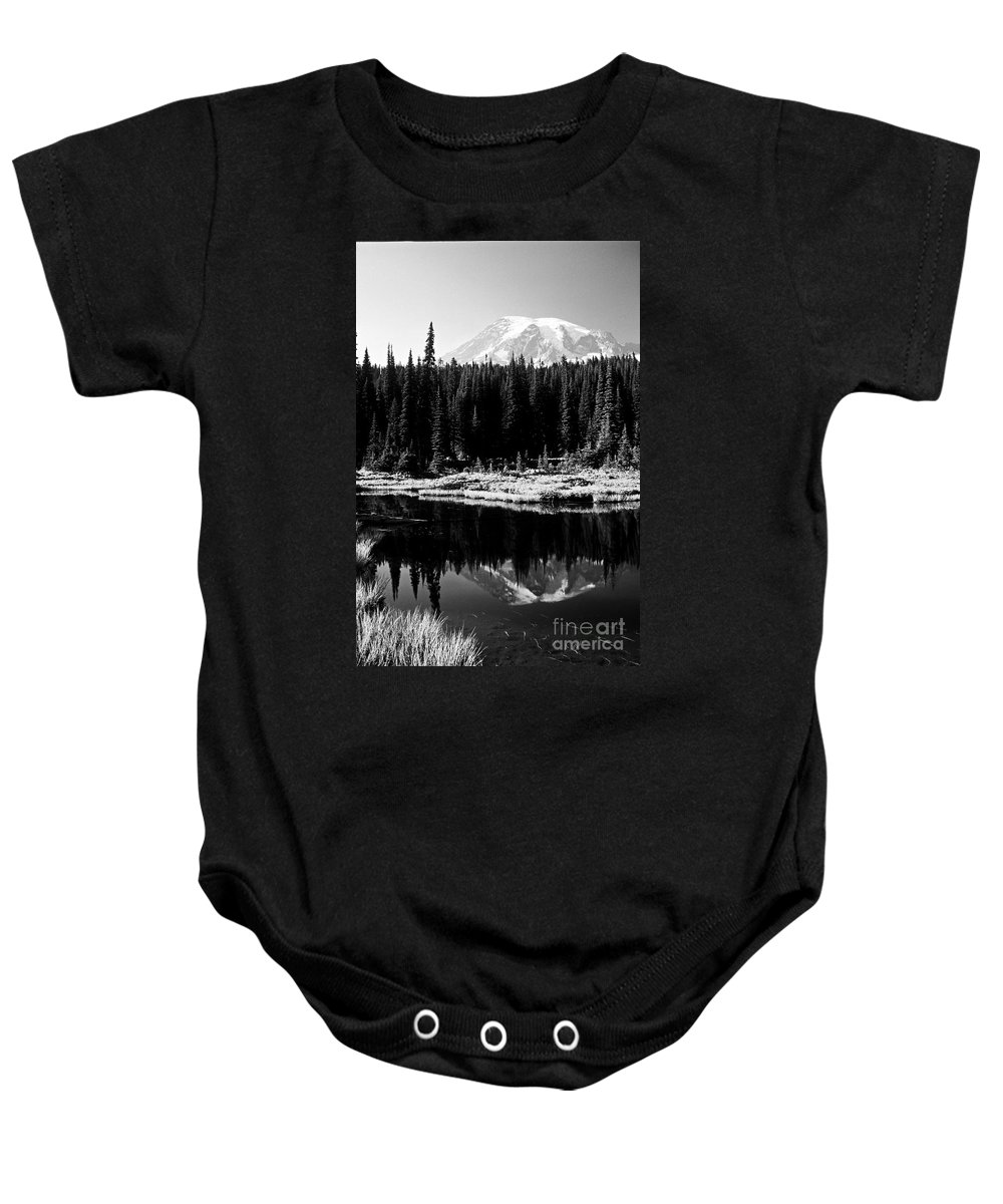 Landscape Baby Onesie featuring the photograph Majestic View 2bw by Earl Johnson