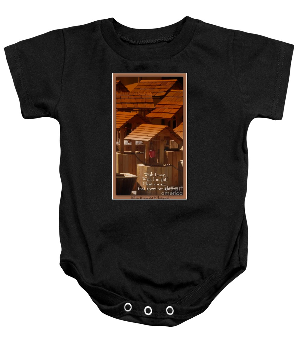 Wish Baby Onesie featuring the photograph Make A Wish Or Two by Bobbee Rickard
