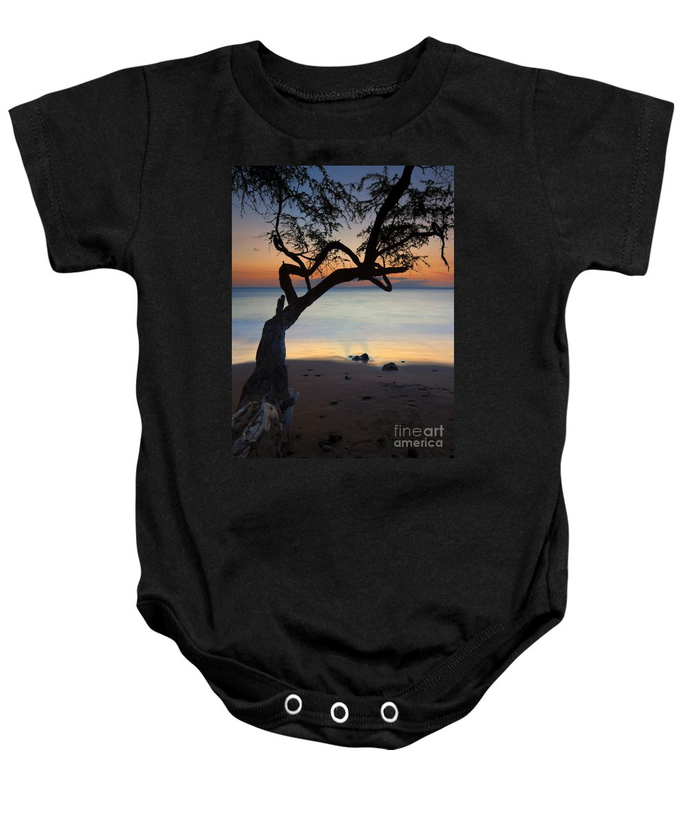 Makena Landing Baby Onesie featuring the photograph Makena Breeze by Mike Dawson